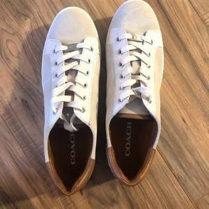 Coach low top tennis shoes